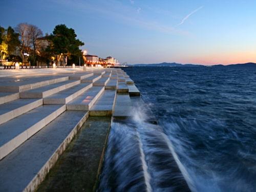 Zadars vackra havskust.