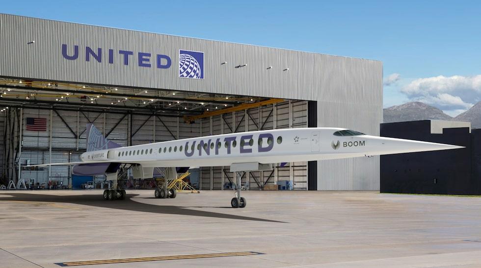 Om åtta år ska det första av Uniteds nya överljudsplan kunna rulla ut från hangaren.