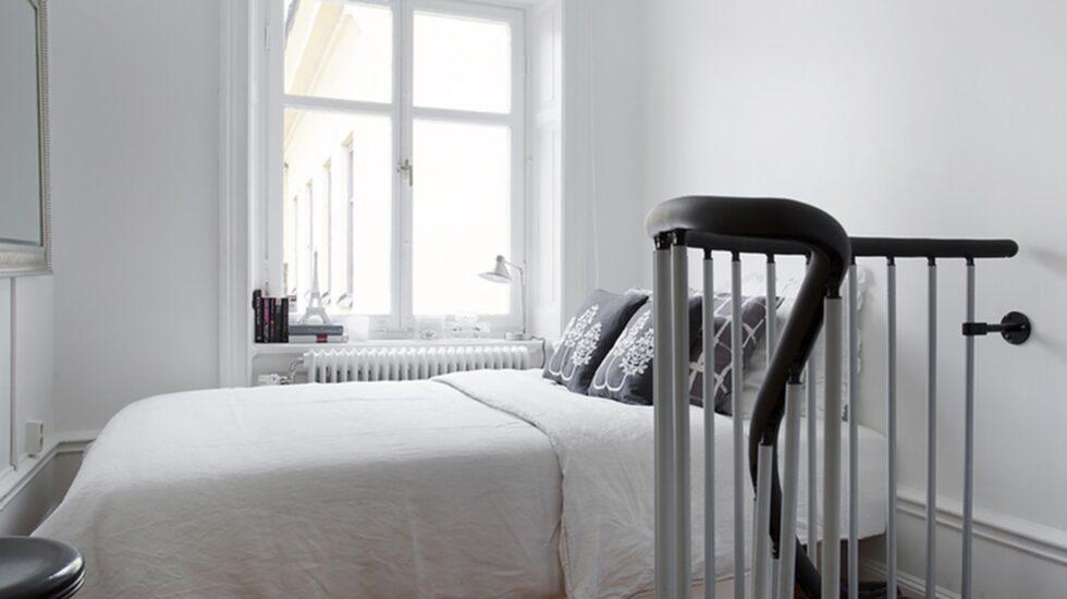 Sovrummet ligger på övervåningen.