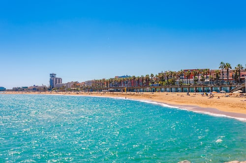 Barceloneta, Barcelonas mest kända citystrand.