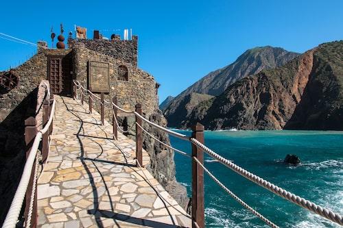 Fästningen Castillo del Mar på norra kusten av La Gomera.