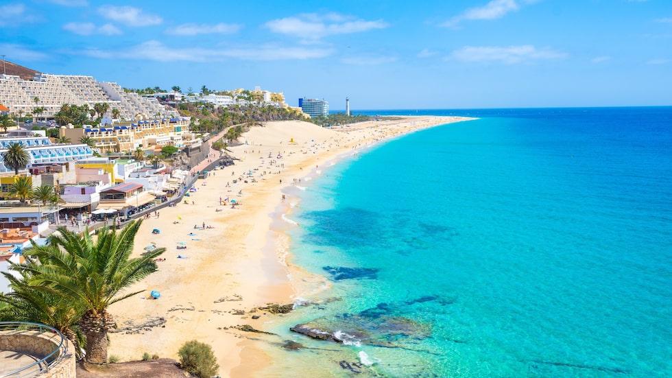 Det finns 15 mil av underbara sandstränder på Fuerteventura.