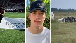 Filip, 21, hoppade med samma plan – 30 minuter före olyckan
