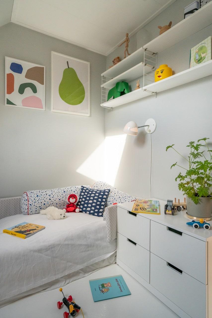 Ett av barnens rum.