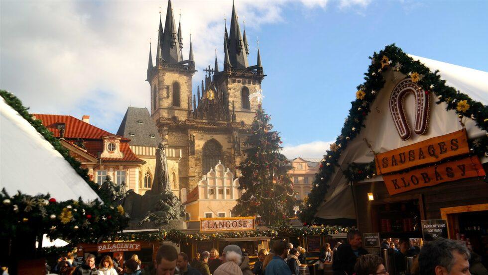Julmarknad i Prag.