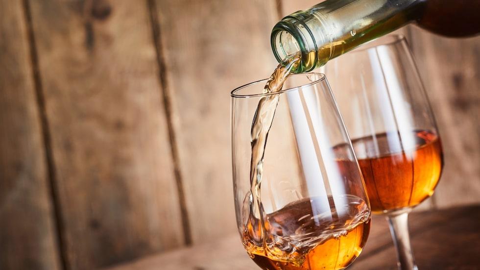 Ett glas sherry.