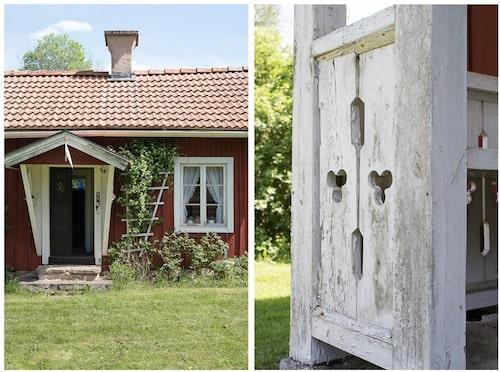 Skomakartorpet med vackra smala dubbeldörrar.