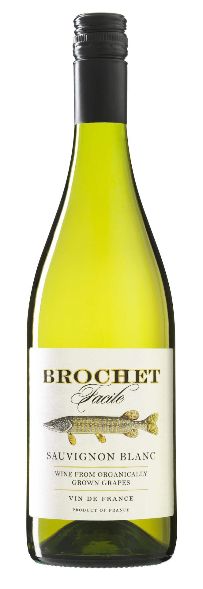 VittBrochet Facile Sauvignon Blanc 2014 (2267) Frankrike, 71 krUtmärkt, ungt vin med lättsamt aromatiska toner, inslag av krusbär och nässlor i frisk stil. Gott till exempelvis en len avocadosoppa med parmesanchips.