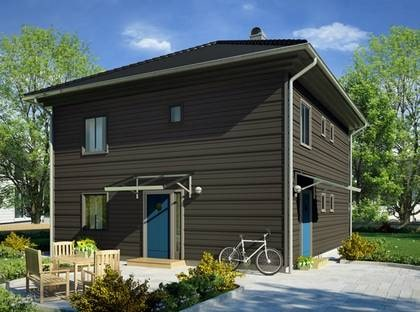 VILLA KLINTEN - En stilren funkiskub med bra planlösning. TYP: 2-planshus med fem-sex rum  och kök på 141,2 kvadratmeter.  PRIS: 1 975 000 kronor 13 987 kronor kvadratmetern. HUSFÖRETAG: Vårgårdahus  www.vargardahus.se