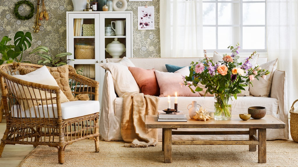 Lantlig stil hemma ger en hemtrevlig och mysig känsla.