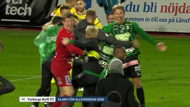 Höjdpunkter: Varberg klara för Allsvenskan 2020