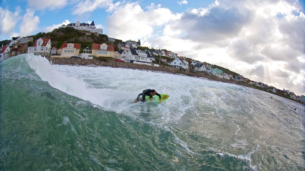 """Mölle är det svenska surfparadiset där den så kallade """"Möllevågen"""" upptäcktes på 90-talet."""