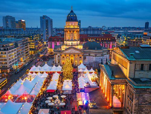 Julmarknaden i Berlin – en av Tysklands många julmarknader.
