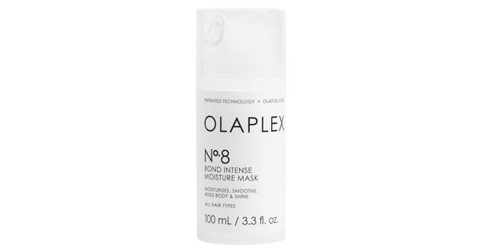 No. 8 bond intense moisture mask: En hårinpackning som reparerar, ger glans, volym och intensiv återfuktning.