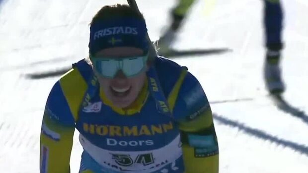 Elvira Öberg bommar pallen efter sekundstrid