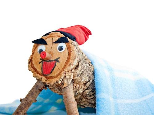 I Spanien bajsar den här lilla träbiten ut barnens julklappar.