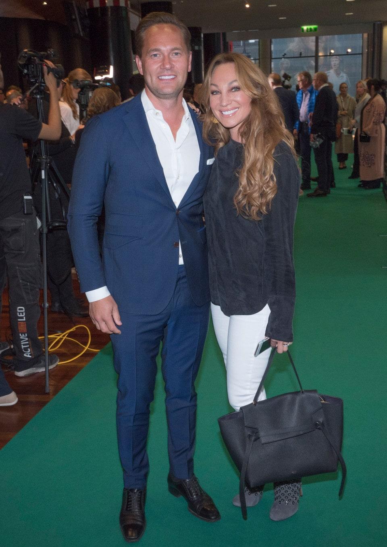 Charlotte Perrelli tillsammans med maken Anders Jensen.