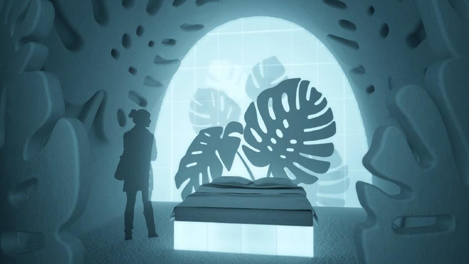 """Skiss på nya sviten """"Monstera"""" av Nina och John Kauppi."""