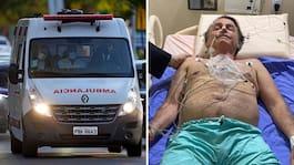Bolsonaro till sjukhus – slutar inte att hicka