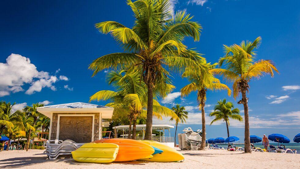 När dollarn sjunker blir det billigare att resa till och semestra i USA. Här Key West i Florida.