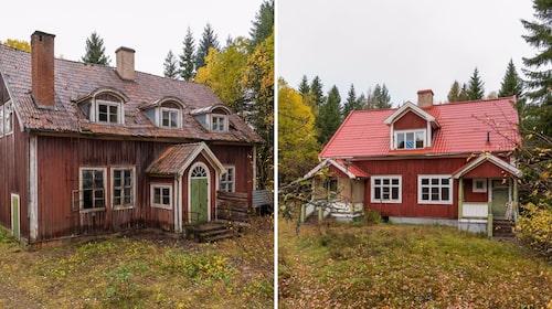 Den gamla skolan byggdes 1922 och lärarbostaden på fastigheten intill på 40-talet.