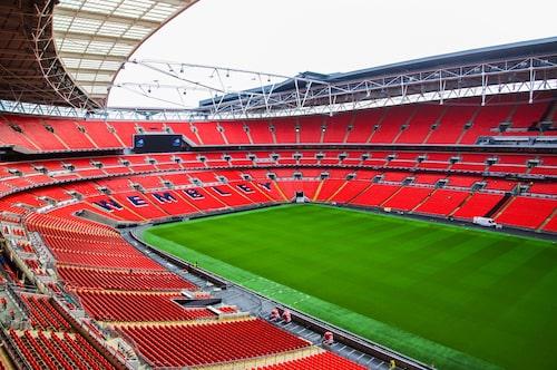 Wembley arena, en klassiker i fotbollssammanhang.