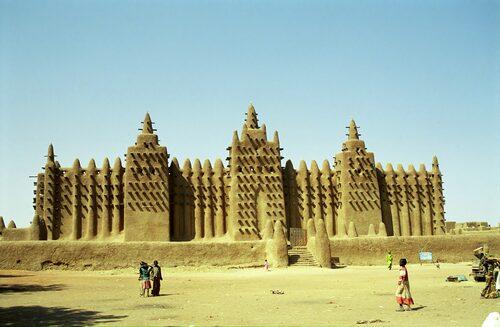 Djingareybermoskén i Timbuktu byggdes av Malis kejsare Mansa Musa 1327.
