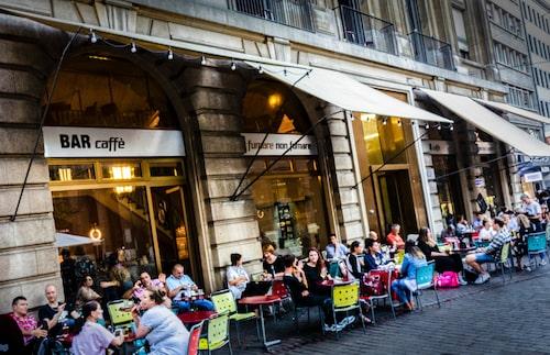 Kaféerna är många i Basel.