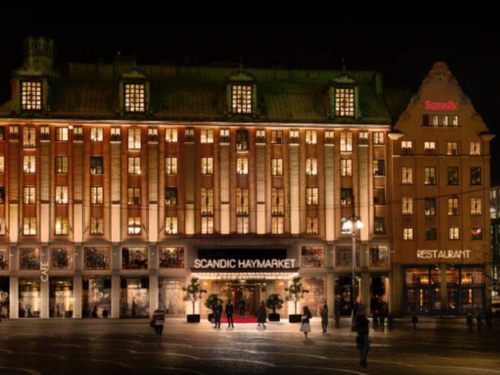 Såhär kommer Hötorget i Stockholm se ut när Scandic Haymarket öppnar.
