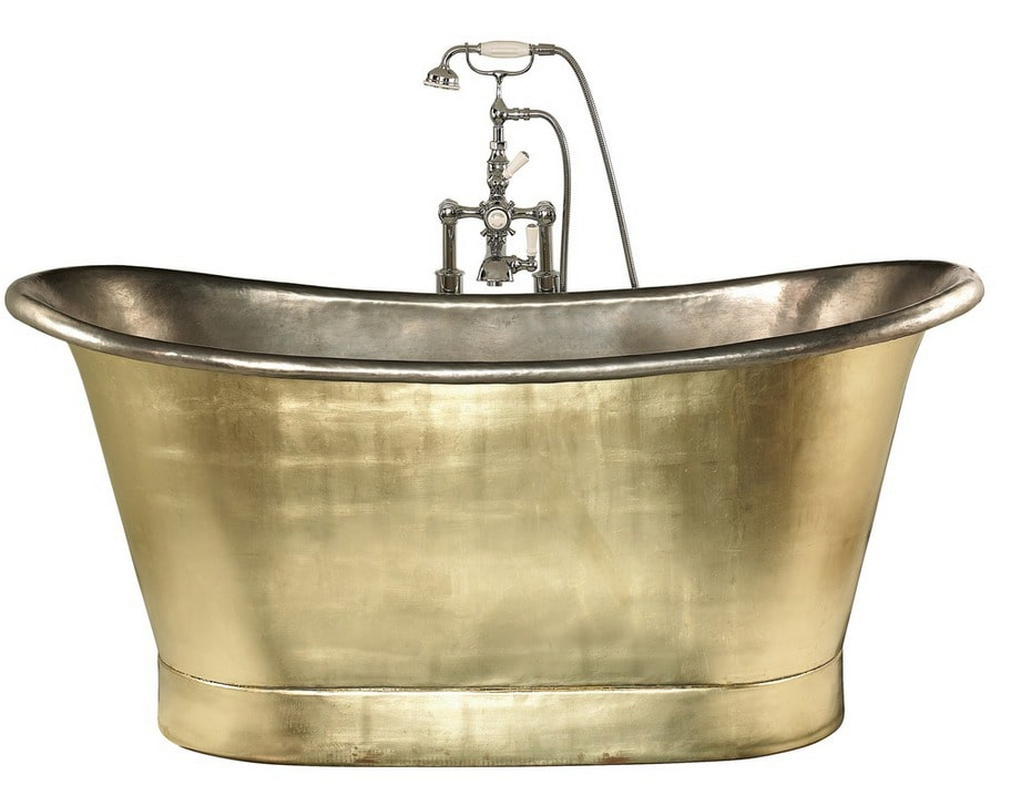 Spräng plånboken med ett badkar i silver och guld.