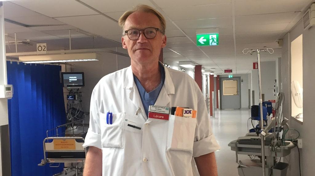 Förvånad. Johan Styrud, ordförande i Stockholms läkarförening, tycker att det skrattretande och orimligt att NKS nominerats som bästa vårdbyggnad.