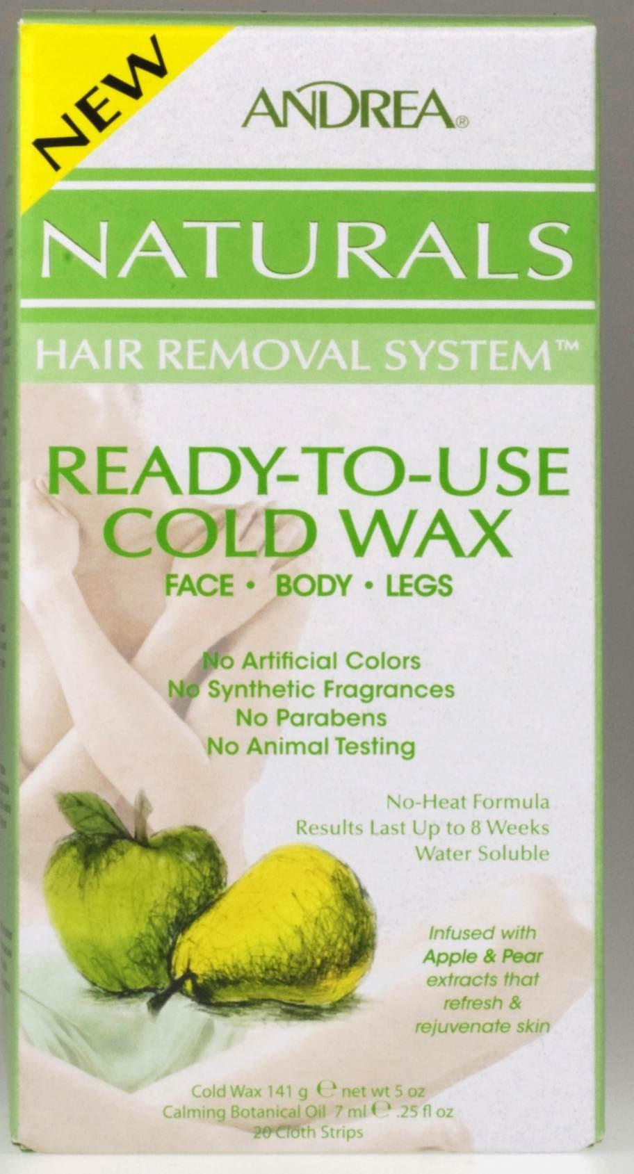 """Vattenlösligt kallvax """"Naturals hair removal systems"""" från Andrea, 115 kronor."""