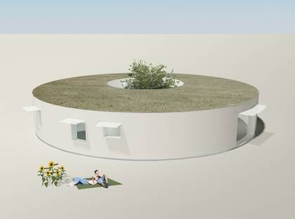 VILLA ATRIUM - Den runda formen och sedumtaket gör att huset ser ut som en maripantårta.  TYP: 1-plans passivhus med fem rum och kök på 160 kvadratmeter. PRIS FRÅN: 3 680 000 kronor 23 000 kronor kvadratmetern. HUSFÖRETAG: Emrahus  www.emrahus.se