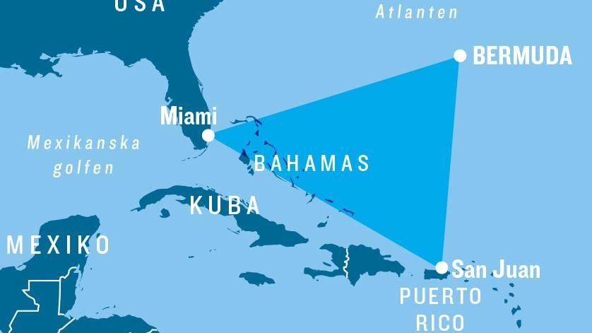 Bermudatriangeln är en cirka 1 miljon kvadratkilometer stor triangelformad region i den västra delen av norra Atlanten. Se fler bilder och klipp från den nya ön under artikeln.