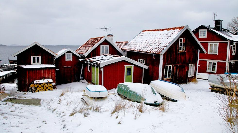 Vacker vinter i Sandhamn.