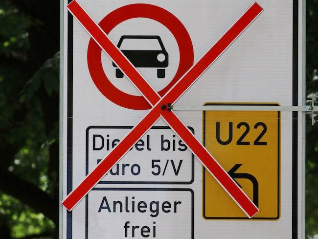 Dieselförbudet är redan verklighet i Tyskland.
