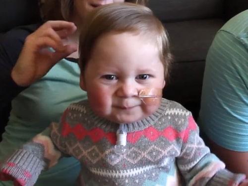 Kieran, 18 månader gammal.