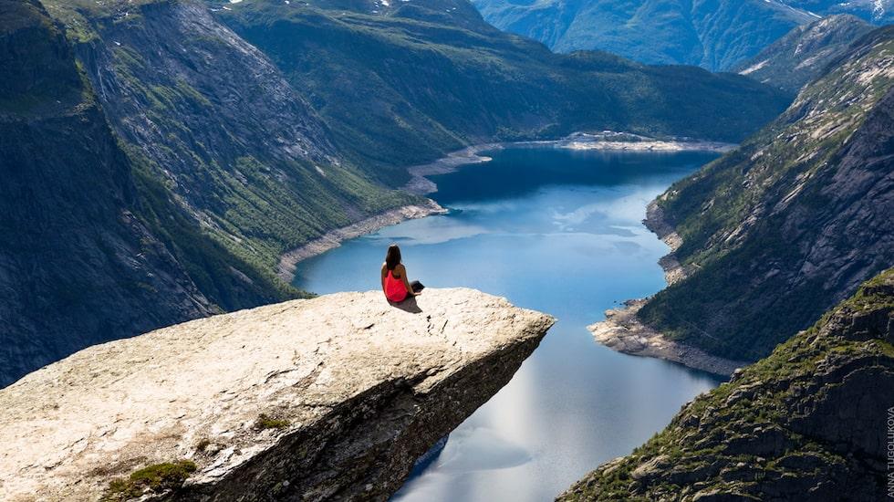 Trolltungan i Norge.