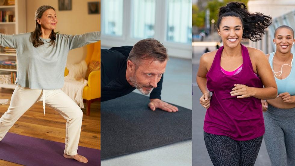 Hitta träningslusten och utmana dig själv både hemma och utomhus.