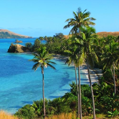 Världsberömda Blå lagunen ligger på Nacula Island.