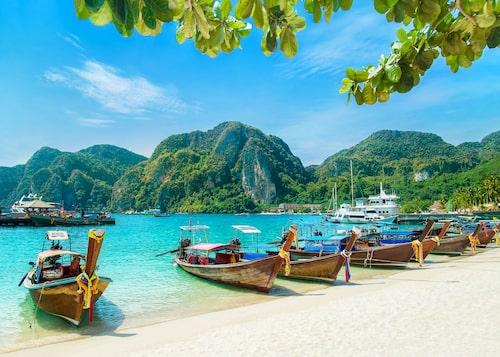 Galet vackra Ton Sai Beach.