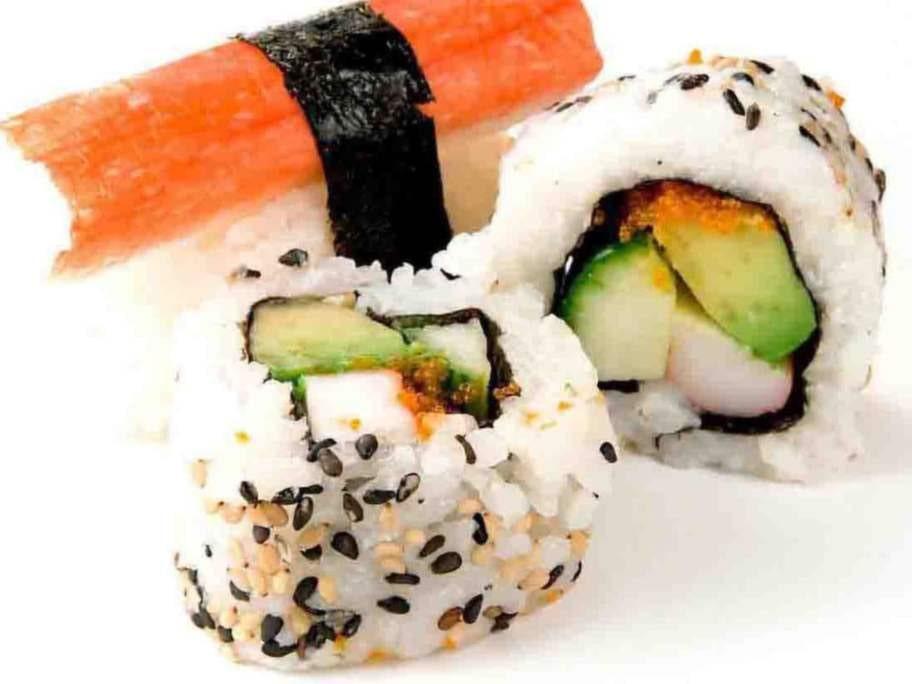 5 bitar sushi, 5 tsk.