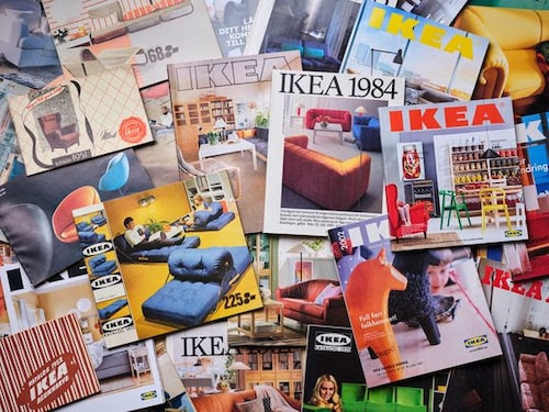 Det har blivit många kataloger under åren.