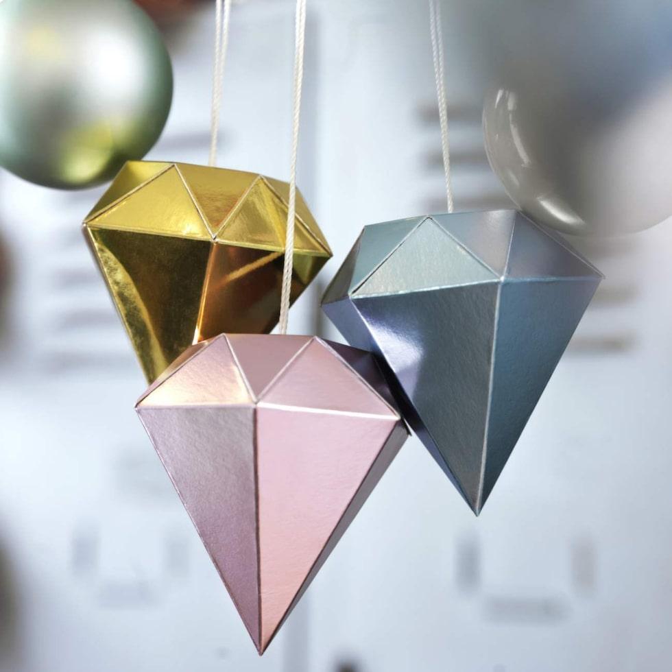 VINTER 2015  Hängande dekoration, diamantformad 49:-/5st