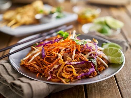 Nygjort pad thai hör till den säkrare gatumaten.