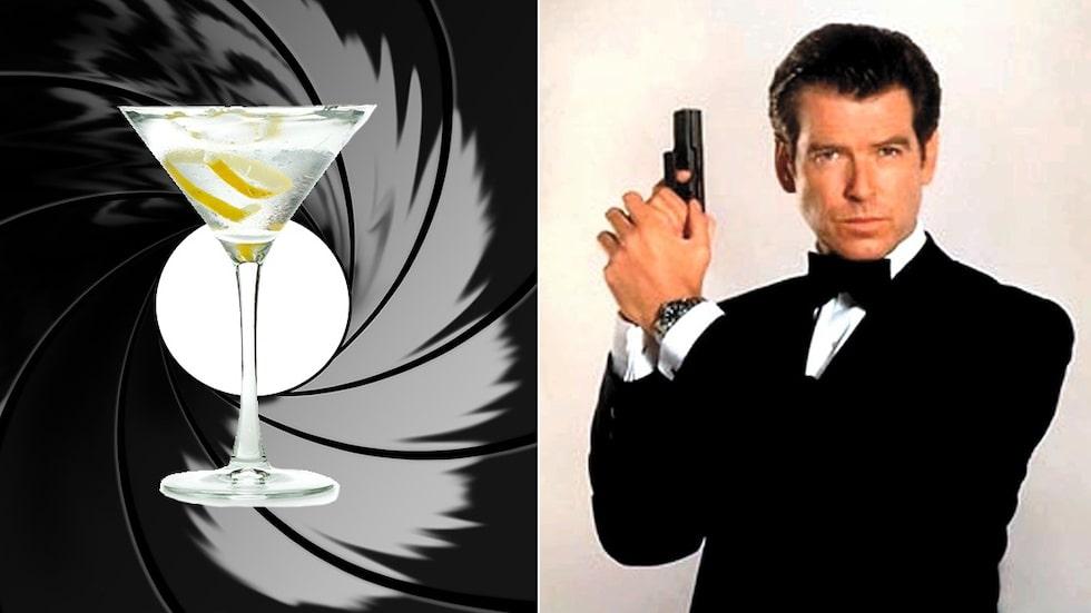 Här är de vanligaste drinkarna och champagnen från Bonds äventyr