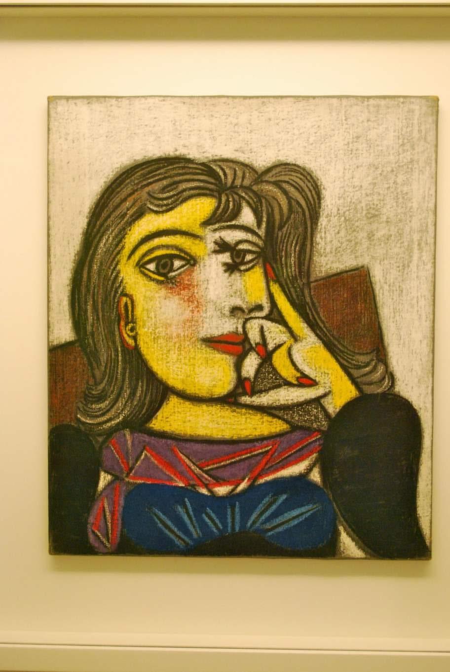 """Picasso hade under lång tid Paris som sin hemstad, och Picassomuseet i Marais är ett givet turistmål. Här syns målningen """"Dora Maar"""" från 1937."""