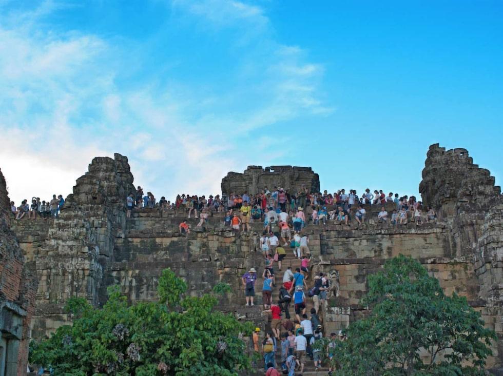 Tempeltrapporna i Angkor Wat, Kambodja