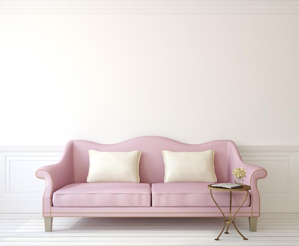 Vill du skapa stillhet och lugn i ett rum är rosa ett bra val.
