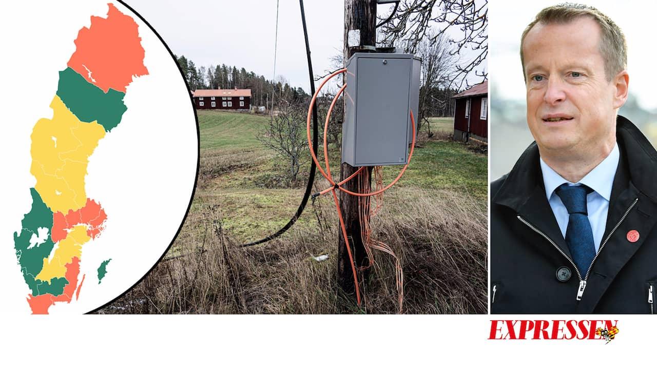 Regeringen missade bredbandsmålet – Ygeman hoppas på 2025
